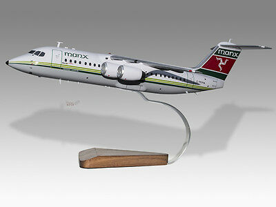 Bae 146-200f Tnt Solid Kiln Dried Mahogany Wood Handmade Airplane Desktop Model Collectables
