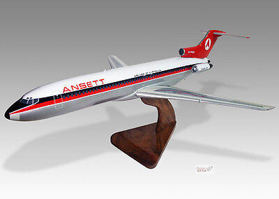 Boeing 727-200 Emery Worldwide Solid Dried Mahogany Wood Handmade Desktop Model Transportation Collectables Airlines