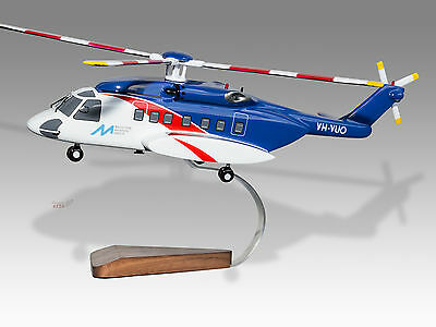 Transportation Collectables Sikorsky Mh-60s Knighthawk Us Navy Solid Mahogany Wood Handmade Helicopter Model