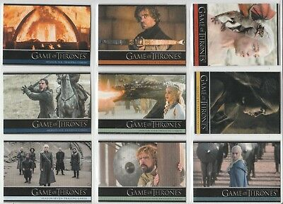 Game Of Thrones 9 Different Promo Cards Season 1 To 7