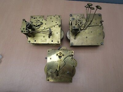 3 Foreign Clock Movements For Spares / Repair