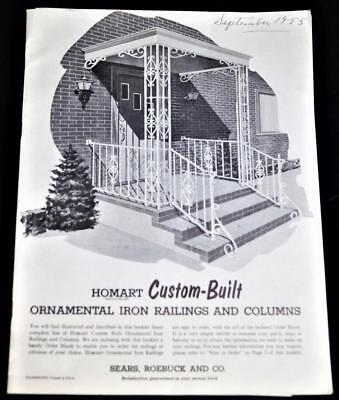 Sears Ornamental Iron Railings & Columns Advertising Sales Catalog 1955 Vintage