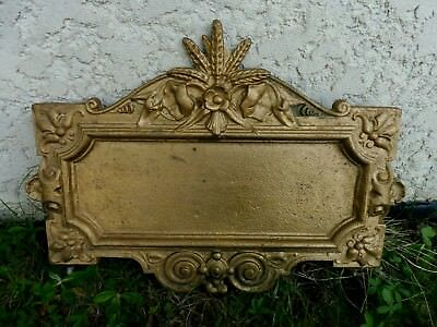 Plaque Fonte Patine Bronze Dore Element Decor Epis De Bles Liserons Agriculture