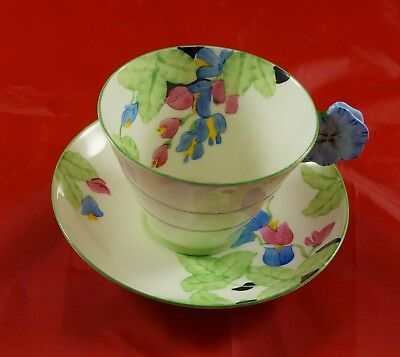 ROYAL PARAGON Fine Bone China Cup and Saucer Flower Handle