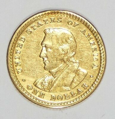 BARGAIN 1905 Lewis & Clark Commemorative GOLD $1 ALMOST UNCIRCULATED
