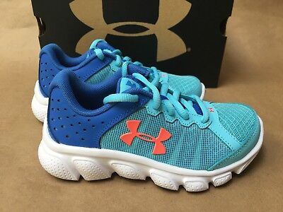 NEW Under Armour Girls GPS Assert 6 Junior Running Shoes Trainers Sneakers Blue