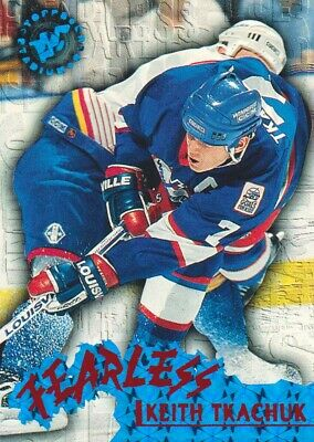 1995-96 Topps Stadium Club Hockey Fearless #F9 Keith Tkachuk Winnipeg Jets