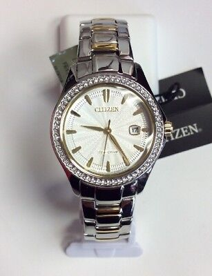 CITIZEN Women's Eco-Drive Silhouette Two-Tone Stainless Steel WATCH FE1144-69A