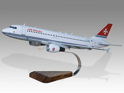 Airlines Airbus A320 Tfc Solid Kiln Dried Mahogany Wood Handmade Desktop Airplane Model