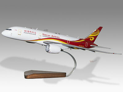 Aeronautica Boeing 727-100 Sahsa Airlines Solid Dried Mahogany Wood Handmade Desktop Model 100% Original