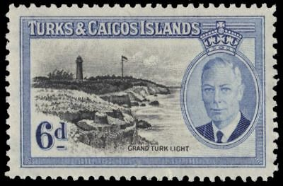 "TURKS and CAICOS 112 (SG228) - KGVI ""Grand Turk Lighthouse"" (pa94149)"