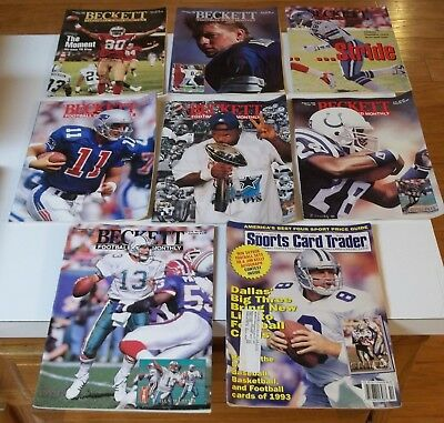 Lot of (8) 1990's NFL FOOTBALL Price Guides (BECKETT/SPORTS CARD TRADER)