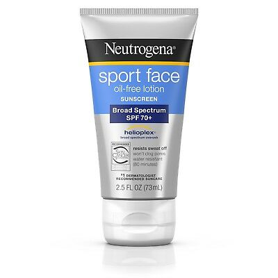 Neutrogena Ultimate Sport Face Oil-Free Lotion Sunscreen Spf 70+ 2.5 Fl. Oz.