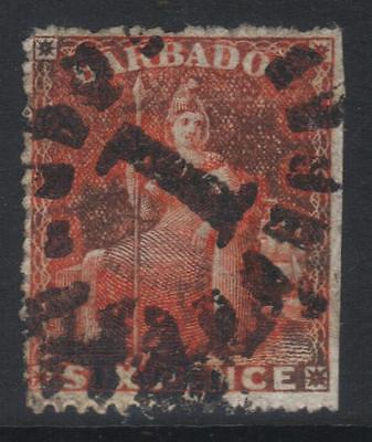Barbados 1872 Small Star Sg53 Used Cat £90