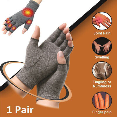 Arthritis Gloves Compression Hand Wrist Support Therapy Finger Pain Relief AU