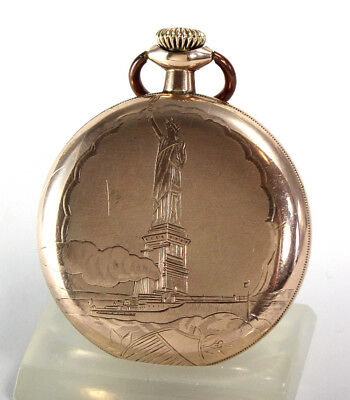 The Statue of Liberty ELGIN National Watch Company TASCHENUHR POCKET WATCH 1919