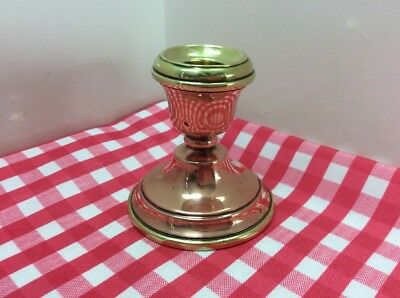 Beautiful Vintage Copper And Brass Candlestick