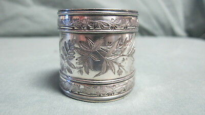 Antique Silver Plate Fancy Napkin ring