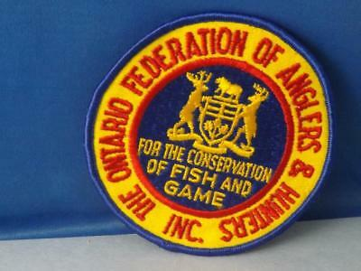 Ontario Federation Of Anglers & Hunters Conservation Fish Game Patch Vintage