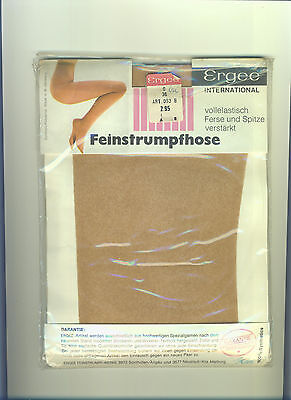 70er Vintage Nylon-Feinstrumpfhose ERGEE *Gr. 36 / 0 *Collant*Tights*Panty(164