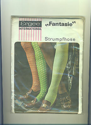 70er Vintage Feinstrumpfhose ERGEE-Fantasie *Gr. 36-38 *Collant*Tights*Panty(170