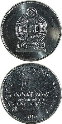 SRI LANKA 5 Rupees 2016 UNC (KM# New) neuer Typ/new Steel Type!