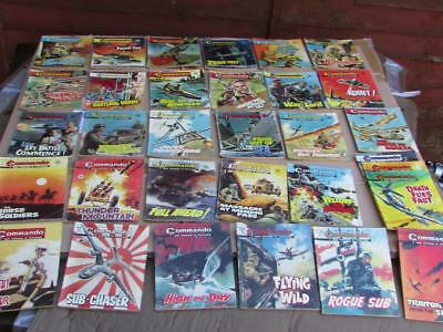 32 Vintage Early Commando Comics Issues 477-1000 Bundle / Job Lot