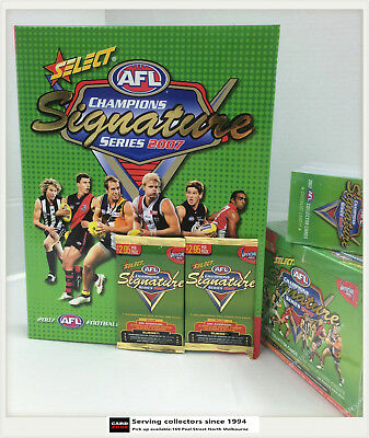 2007 Select AFL Champions Trading Card Official Album (Pages+2 pks) -Rare