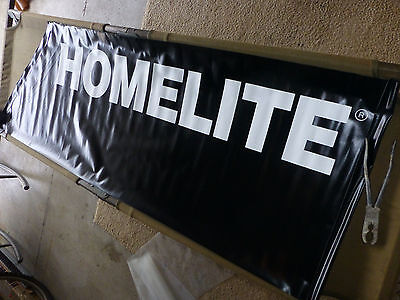 HOMELITE Chain Saw Advertising Display Banner Sign Sears Stores - New Old Stock
