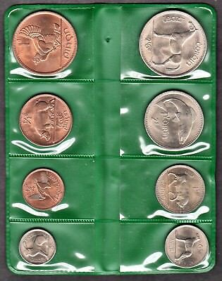 Ireland 1966 Uncirculated 8 Pc. Set In Original Mint Holder (Km# Ms2)