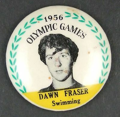 1956 Olympic Games Dawn Fraser Tinnie . No pin on back