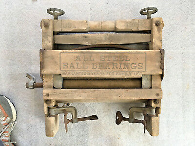 Lovell 2031 Clothes Wood Wringer Washer All steel Ball Bearings rollers Mounts