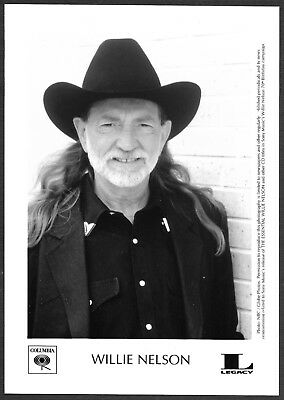 ☆ Willie Nelson Original 2003 Columbia Records Promo Portrait Photo Country