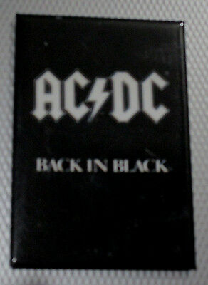 """Ac/dc Back In Black With White Logo Magnet 2""""x3"""" New"""