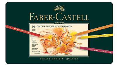 "Faber Castell 36 COLOUR PENCILS ""POLYCHROMOS"" DESSIN ART CRAYON COULEUR PRO LOT"