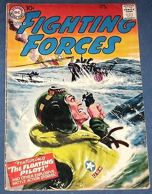 Our Fighting Forces #20  April 1957  Greytone Cover