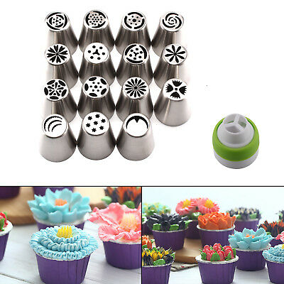 15 32 Russian Icing Piping Nozzles Flower Cake Decorating Tips Pastry Tools Set
