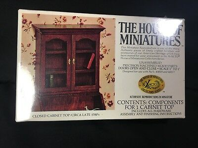 SEALED The House of Miniatures CLOSED CABINET TOP Circa Late 1700's X-Acto 40001