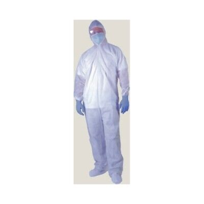 Ultra Clean Products APP0190-XL-W-ADP XL coverall with Elastic Wrist/Ankle