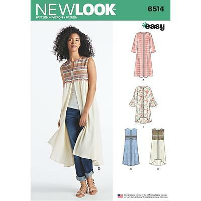 NEW LOOK SEWING Muster Misses Leicht Jumper Oberseiten Size 10 - 22 ...
