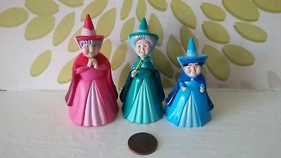 *Disney Sleeping Beauty 3 Fairy Godmother Figures Ideal For Cake Toppers*