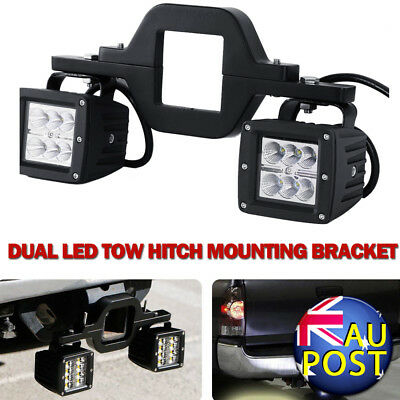 Universal Tow Hitch Dual Mounting Brackets For Pod LED Work Lights Offroad SUV
