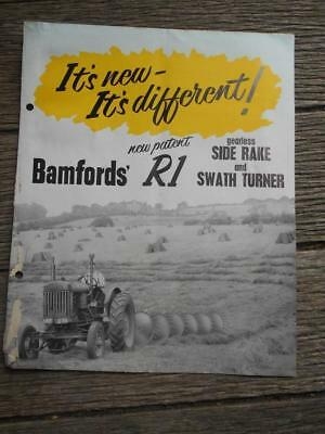 1955 Bamfords R1 side rake swath turner farm tractor Gippsland Co-Op brochure