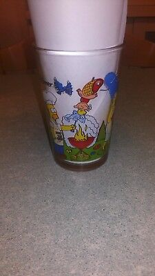 Ancien verre 1999 Moutarde The simpsons