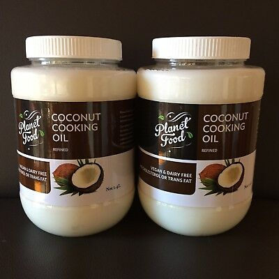 2.8lt Coconut Oil 2 X 1.4lt Refined Pure Natural Cooking Baking Frying Vegan