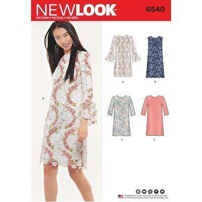 New Look Sewing Pattern Misses Shift Dress Size 8 - 20 6540 New