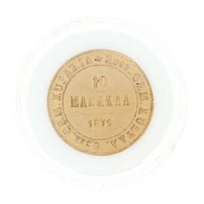 Authentic 1879 Finnish 10 Markkaa Coin - 900 Gold Imperial Russia Finland
