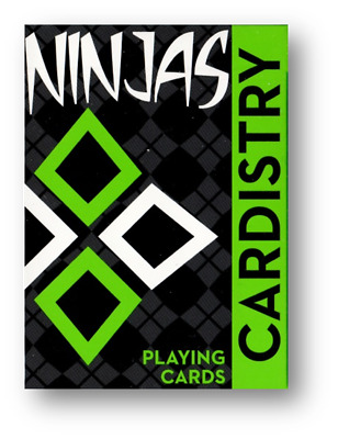 Cardistry Kiwi Ninjas (Green) Playing Cards by World Card Experts Poker