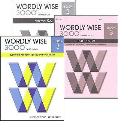 Wordly wise 3000 grade 4 set student and key new 3rd edition wordly wise 3000 grade 3 set student key and tests new 3rd fandeluxe Image collections