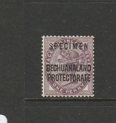 Bechuanaland Protectorate Optd SPECIMEN 1897/1902 1d MM SG 61s